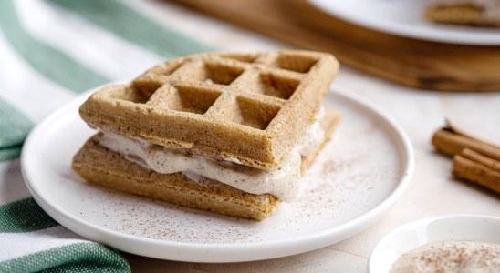 Low Carb Cinnamon Roll Waffle Recipe