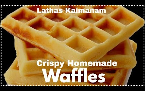 Perfect homemade waffles without instant mix   Classic Waffles recipe  Easy Waffles recipe