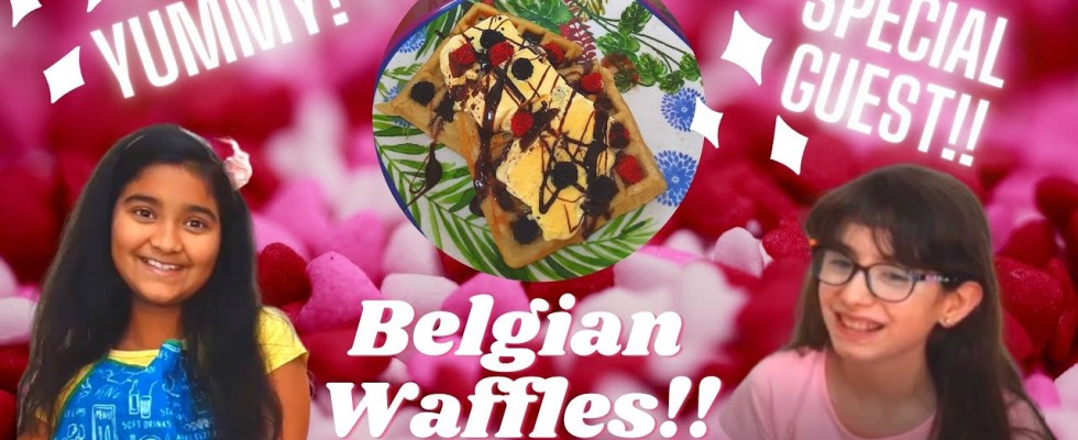Easy & Delicious Belgian Waffles Recipe    Easy Recipe    Special Guest!!    Samiworld10   