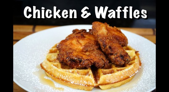 How To Make Chicken & Waffles - Fried Chicken & Homemade Waffles Recipe #MrMakeItHappen