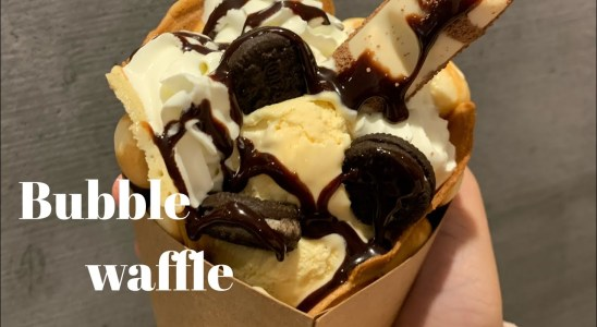How to make yummy Bubble  Waffle/ Easy, quick and delicious dessert | Bina's World