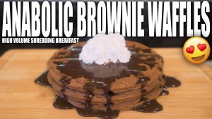 ANABOLIC BROWNIE WAFFLES   Simple High Protein Chocolate Waffle Recipe   High Volume Shredding Meal
