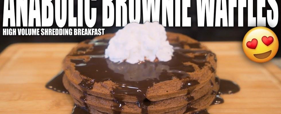 ANABOLIC BROWNIE WAFFLES | Simple High Protein Chocolate Waffle Recipe | High Volume Shredding Meal