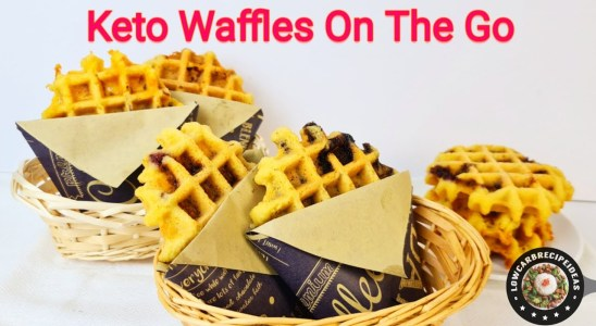 HOW TO MAKE KETO WAFFLES ON THE GO - CRISPY & DELICIOUS (4 FLAVORS, SWEET & SAVORY)