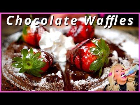 How to Make Vegan Chocolate Waffles - Recipe by Flour Floozie
