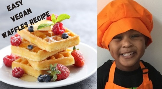 Most Delicious Easy Vegan Waffles Recipe! I Real Cooking!