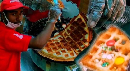 Unique Belgian Food in Lucknow | Belgian Waffles Food Recipes | Street Food India