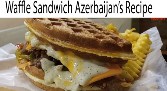 Beef Waffle Sandwich Azerbaijan's Recipe In Karachi | Beef Sandwich Juicy | Restaurant Food Recipe