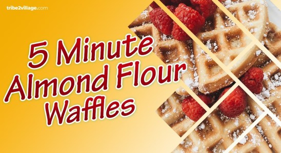 Easy Almond Flour Waffles Recipe | 5-Minute Keto Waffles Recipe | Cooking With Mommy