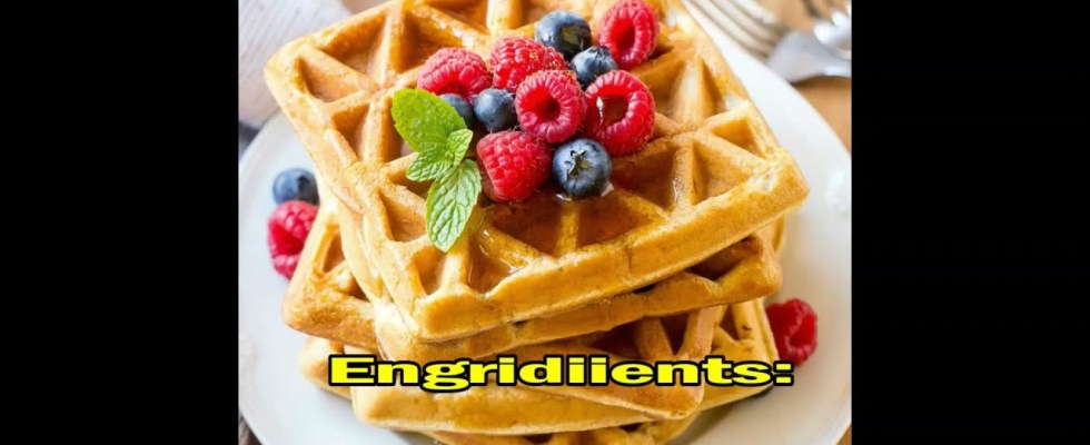 Keto Waffles Recipe, Low Carb Waffles, Keto Breakfast Recipe