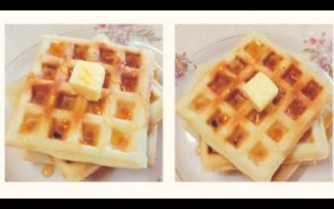 Waffles Recipe How To Make Homemade Waffles Easy Breakfast Recipe Belgium Waffle Easy Waffles Recipe