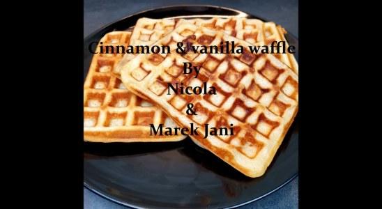 Waffles cinnamon and vanilla recipe