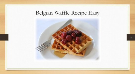 Belgian Waffle Recipe Easy - Classic Belgian Waffles Recipe