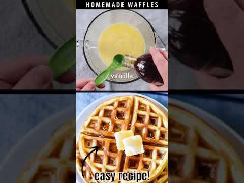 Best Waffles Recipe! #Shorts