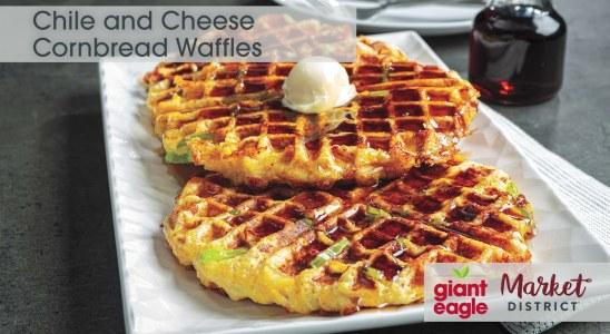 Chile & Cheese Cornbread Waffles