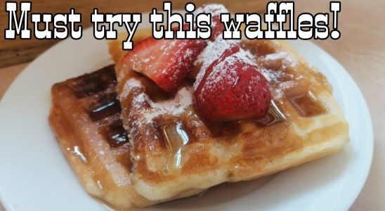 How to make Fluffy waffles   easy fluffy waffles recipe