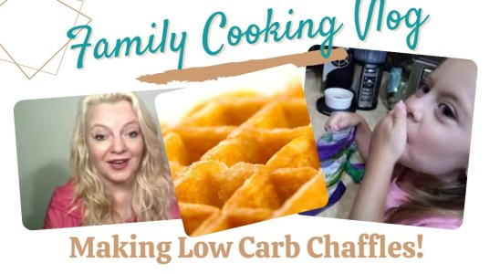 Making Chaffles our Favorite Low Carb Bread // Easy Chaffle Recipe / Family Cooking Vlog