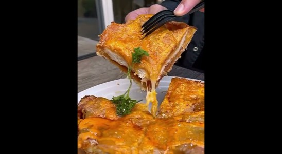 Spicy Chicken Bacon Waffles Street Food #shorts