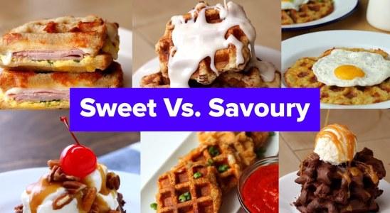 Sweet Vs. Savoury Waffle Recipes