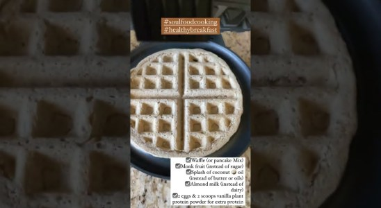 Healthy Weight Loss Waffle Recipe for Beginners by Mom of 4 #SHORTS