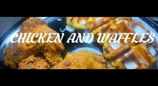 TWO STEP CHICKEN AND CINNAMON ROLL WAFFLES EASY RECIPE