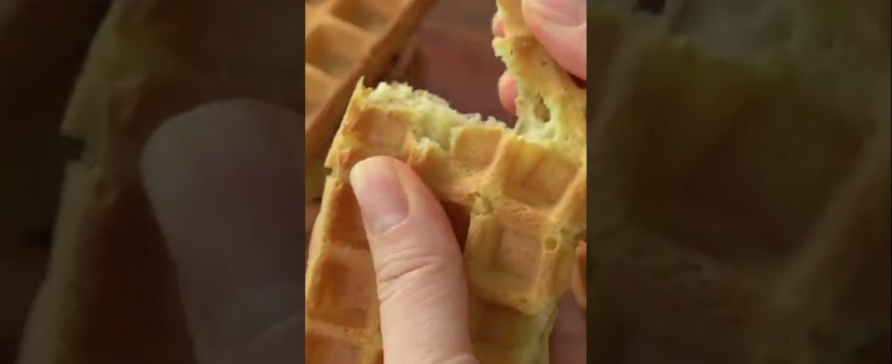 Crispy Waffle Recipe :: Best Homemade Waffles #Shorts Crispy Waffle/Sugar Cones Recipe