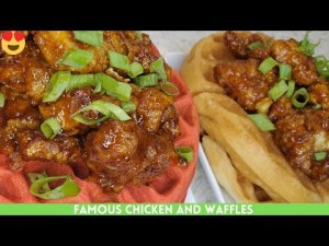 Famous Honey Sriracha Chicken and Waffles Recipe   Easy And Delicous   Chicken Breast