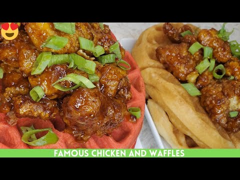 Famous Honey Sriracha Chicken and Waffles Recipe | Easy And Delicous | Chicken Breast