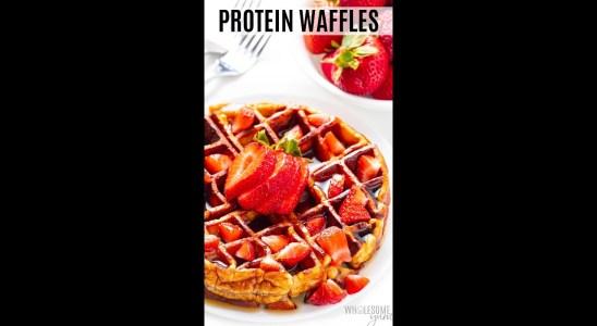 Flourless Protein Waffles #Shorts