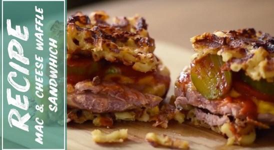 Macaroni and Cheese Waffle Sandwich Recipe with Ray Lagiya   Fidel Gastro