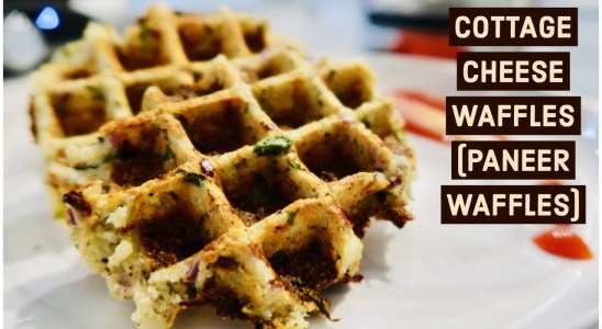 Recipe - 64   Cottage Cheese Waffles (Paneer Waffles)