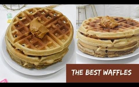 THE BEST PEANUT BUTTER WAFFLES [NIGERIAN RECIPE]