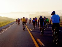 Heading out in the morning, Harlan, RAGBRAI 2013, Copyright Robert Hartwig.