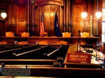 The Supreme Court room was being used as something like a storage closet.