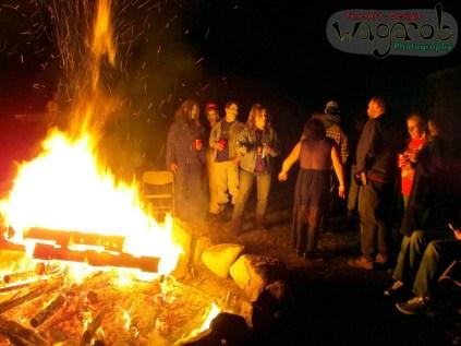 Zombie Party Bonfire, Dundee, MI - Copyright Robert Hartwig 2013, wagarob.wordpress.com