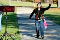 The Fastest Runner ;), Hideous Holiday Sweater Run, Kensington Metropark, Milford, MI - Copyright Robert Hartwig 2013, wagarob.wordpress.com
