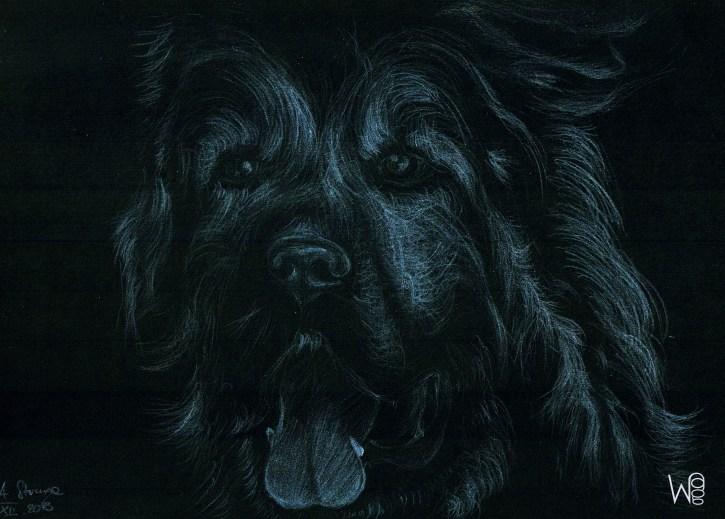 """CAUCASIAN SHEPHERD DOG"" ; Size: A4 (29,7x21cm)"