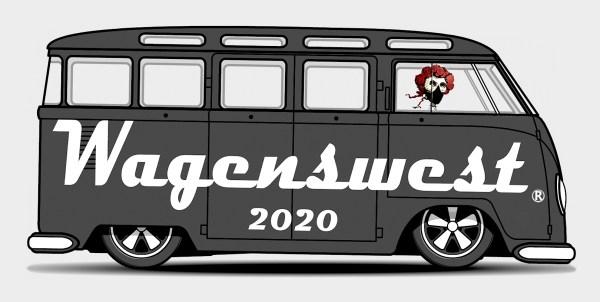Wagenswest masked bandit 2020 bumper sticker