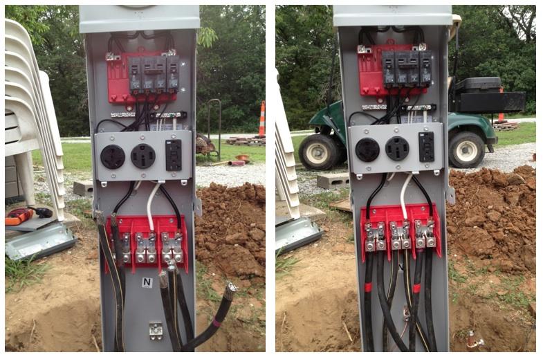 RVNet Open Roads Forum: Tech Issues: Park pedestal wiring