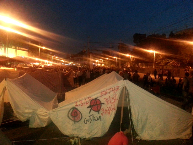 An anarchist tent in Tahrir Square. (WNV/Mohammed Hassan Aazab)
