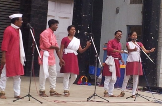 Kabir Kala Manch's first performance outside Maharashtra at a Songs of Protest event in Bangalore in September 2013. (WNV/Puspha Achanta)
