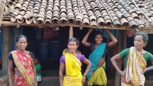 Dongria Kondh women (Sadai Huika on the far right) involved in resisting mining in Niyamgiri, Raygada district, in March 2015 (WNV/Pushpa Achanta)