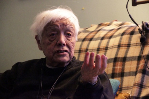 Grace Lee Boggs at her home in Detroit in February 2012. (Wikimedia / Kyle McDonald)