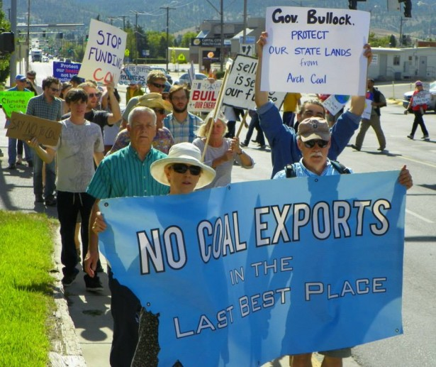Protesters march in Helena in September 2013. (Blue Skies Campaign)