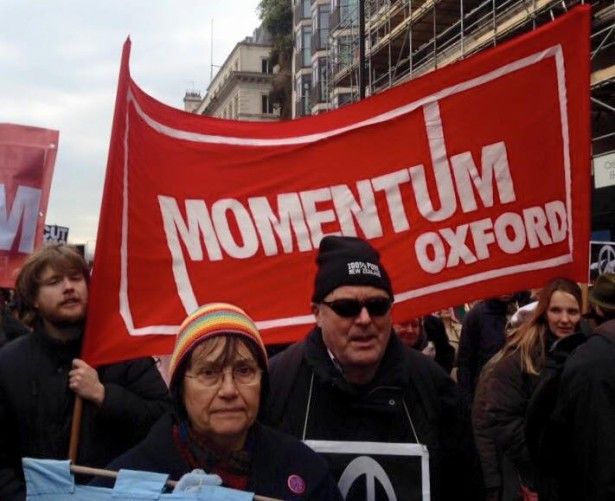 A Momentum rally in Oxford, England in February. (Facebook / Momentum)