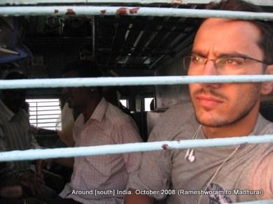 dinesh wagle inside a train on way to madhurai from rameswaram