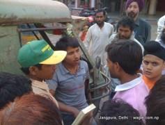 an auto hits a rickshaw