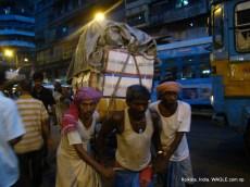 runner-pulled rickshaw of kolkata, india
