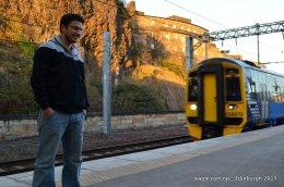 Train at Edinburgh Waverley Railway Station
