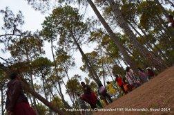 Monks played chungi game at Hattiban